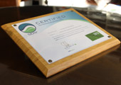 Bamboo Certificate Plaque